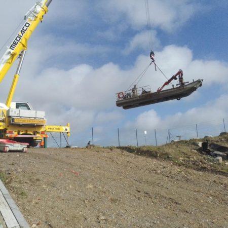 retrait barge polder
