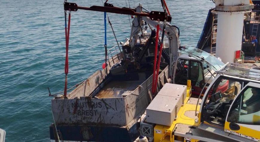 Avril 2020: Renflouement du goemonier «Nautilus» à la pointe du Finistère